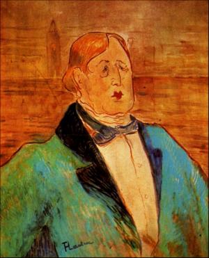 Oscar Wilde, c.1895, oil on canvas? 58.5x48cm, Toulouse-Lautrec