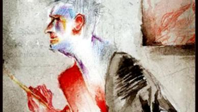 SELF PORTRAIT MATTHEW MOSS ARTIST