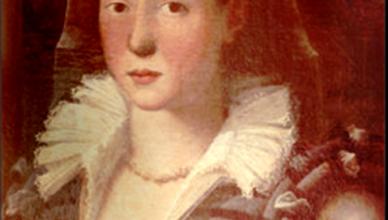 Fragment Lavania Fontana portrait after conservation